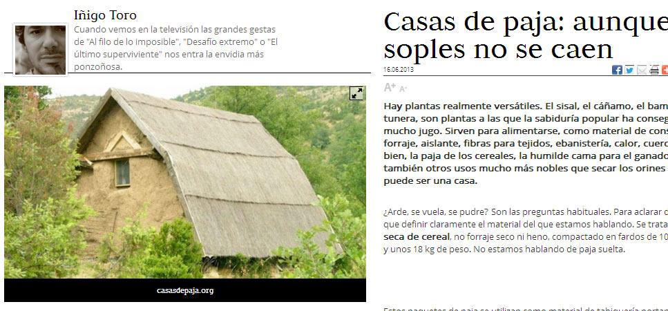 Entrevista sobre bioconstrucci n con paja for Construye tu casa online
