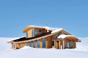 casas de paja en invierno