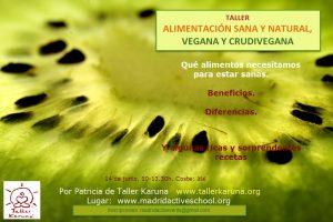 taller curso alimentacion vegana crudivegana sana y natural