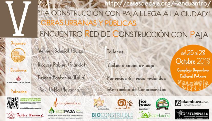 Encuentro Red de construcción con paja, RCP, Construcción con paja en la ciudad, encuentro rcp 2018