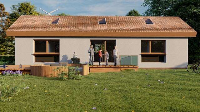 Proyecto vivienda casa de paja PBE